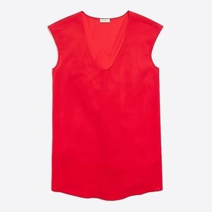J.crew factory red cap sleeve blouse /10/
